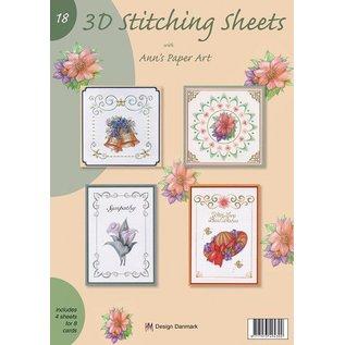 Bücher und CD / Magazines A4 Buch mit Stickvorlage für 8 Karten