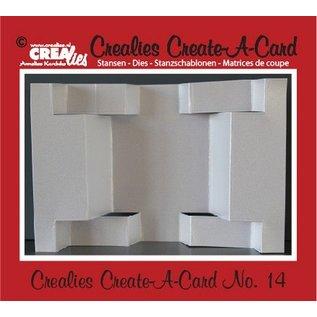 Crealies und CraftEmotions Crealies Opret en kort nr. 14 for hulkort