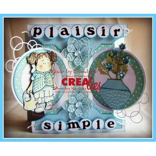 Stempel / Stamp: Transparent Crealies Create A Card no. 21 for punch card