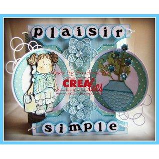 Stempel / Stamp: Transparent Crealies Créer une carte no. 21 pour cartes perforées