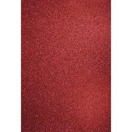 DESIGNER BLÖCKE / DESIGNER PAPER A4 craft carton: Glitter cardinal red