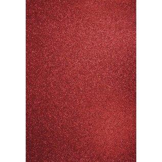 DESIGNER BLÖCKE / DESIGNER PAPER A4 artisanat carton: Glitter cardinal rouge