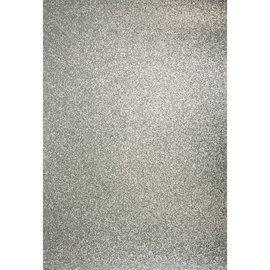 Karten und Scrapbooking Papier, Papier blöcke A4 Bastelkarton: Glitter silber