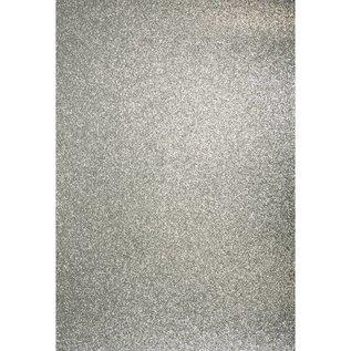 DESIGNER BLÖCKE / DESIGNER PAPER A4 håndværk karton: Glitter sølv