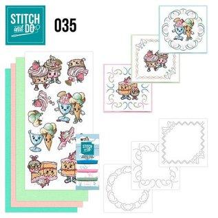 Komplett Sets / Kits Stitch og gøre 35, Cupcakes