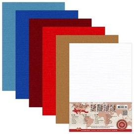 AMY DESIGN Leinen Karton A5, warme Farben