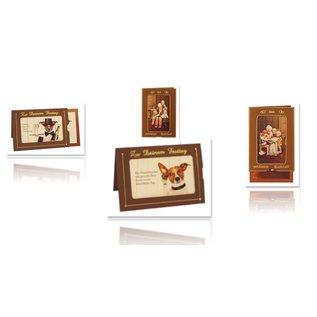KARTEN und Zubehör / Cards 5 slide-kort + 5 kuverter!