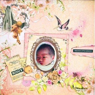 Kaisercraft und K&Company Designerblock, Peekaboo, Baby Girl