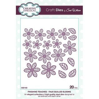 CREATIVE EXPRESSIONS und COUTURE CREATIONS to frame 3D Flowers: stamping and embossing stencil