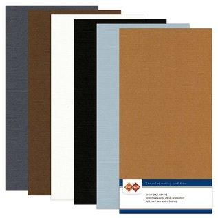 Karten und Scrapbooking Papier, Papier blöcke Linen pap, Vintage, A5 / 240 gr