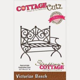 Cottage Cutz Perfuração e molde de estampagem: Banco Victorian