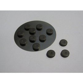 Embellishments / Verzierungen 12 mini-aimant 12 mm x 2 mm