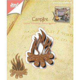 Joy!Crafts / Jeanine´s Art, Hobby Solutions Dies /  Stansning og prægning skabelon: Campfire