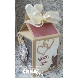 Crealies und CraftEmotions Maak een geschenkdoos: stempelen en embossing stencil