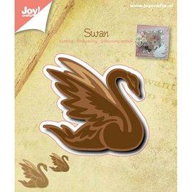 Joy!Crafts / Jeanine´s Art, Hobby Solutions Dies /  Troquelado y estampado en relieve plantilla: cisne