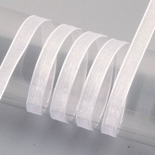 Embellishments / Verzierungen Organza ruban selvage, 6 mm, blanc