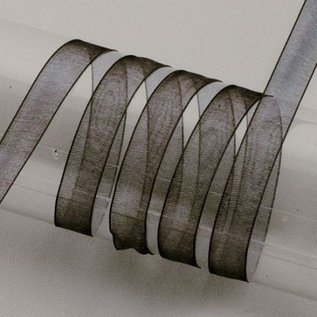 Embellishments / Verzierungen Organzaband Webkante, 6 mm, schwarz