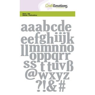 Crealies und CraftEmotions Punching and embossing template: lowercase