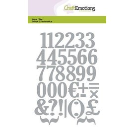Crealies und CraftEmotions Stanz- und Prägeschablone: Zahlen
