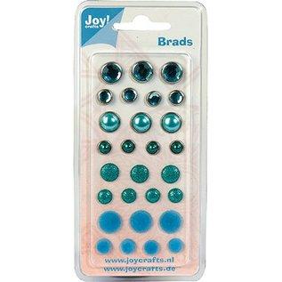 Joy!Crafts / Jeanine´s Art, Hobby Solutions Dies /  Brads, blaue Töne