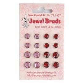 Joy!Crafts / Jeanine´s Art, Hobby Solutions Dies /  Jewels Brads, Bordeaux / Hellrosa