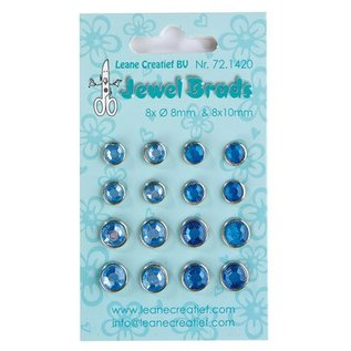 Jewels Brads, dark blue / light blue