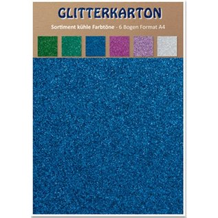 REDDY Glitter cardboard, cool shades