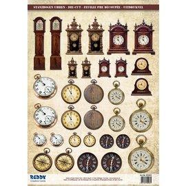Embellishments / Verzierungen Stanzbogen Uhren