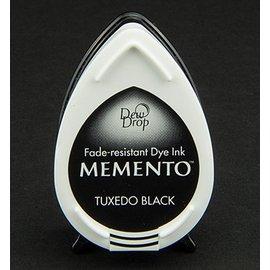 FARBE / STEMPELINK MEMENTO dewdrops stamp ink InkPad Tuxedo Black