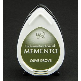 FARBE / STEMPELKISSEN Memento dugdråber stempel blæk InkPad Olive Grov
