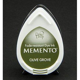 FARBE / STEMPELINK MEMENTO dauwdruppels stempel inkt Inkpad Olive Grov