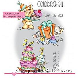 C.C.Designs Transparante stempels, Roberto's Rascals Celebrate