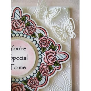 CREATIVE EXPRESSIONS und COUTURE CREATIONS Stempel Tema: Retro Roses