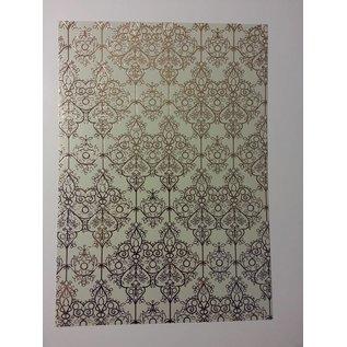 "DESIGNER BLÖCKE / DESIGNER PAPER deco-box 1 arc d'or laminé ""Baroque"""