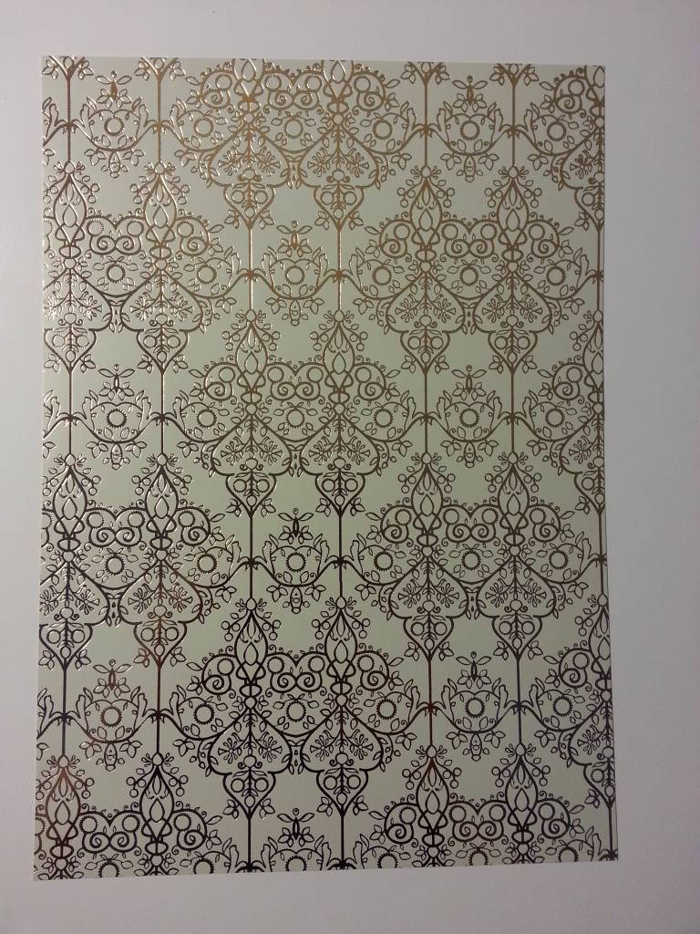 1 bogen deko karton barock gold laminiert hobby. Black Bedroom Furniture Sets. Home Design Ideas