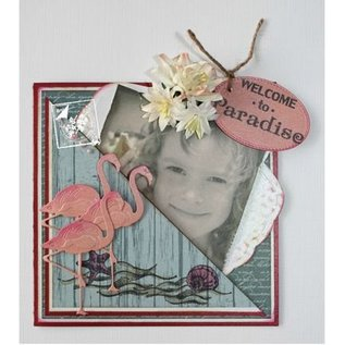 Joy!Crafts / Jeanine´s Art, Hobby Solutions Dies /  Punching and embossing template: Flamingo
