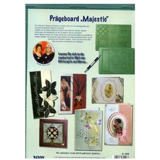 "REDDY Embossing Board ""Majestic"" with instructions (front and back)"