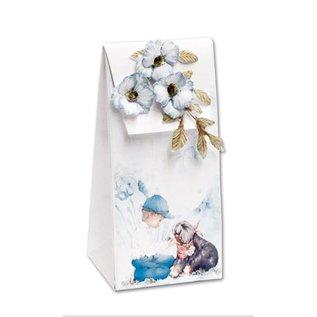 BASTELSETS / CRAFT KITS Set completo per 4 carte e 4 sacchetti regalo !!