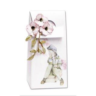 BASTELSETS / CRAFT KITS Complete set voor 4 kaarten en 4 cadeau zakken !!