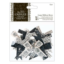 Docrafts / Papermania / Urban 12 Deco grinding large, black tones, Midnight Blush
