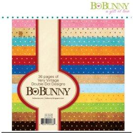 BO BUNNY BoBunny, Designerblock mit Punkten in Vintage farbe