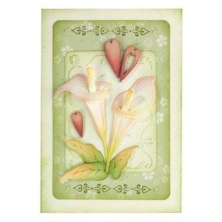 Leane Creatief - Lea'bilities Stempling og prægning stencil: Flower, Cala