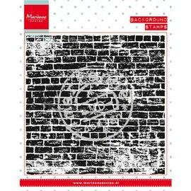 Marianne Design selos transparentes: a parede de pedras fundo