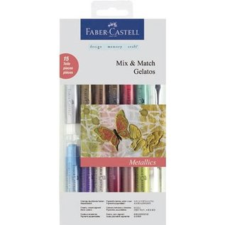 Gelatos Metallics kleuren 12 + 1 + 2 brush spons
