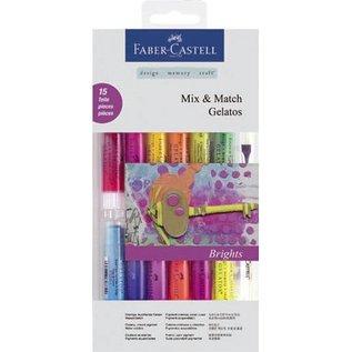FARBE / STEMPELINK Gelatos Set mit 12 Farben + 1 Pinsel + 2 Schwämmchen