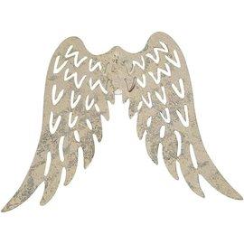 Embellishments / Verzierungen Wing, B: 7,5 cm, 1 stuk