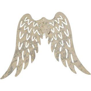 Embellishments / Verzierungen Wing, B: 7,5 cm, 1 stk