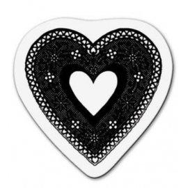 Cart-Us timbro trasparente: cuore in pizzo