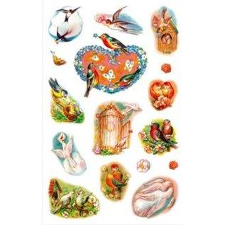 Sticker kreative klistermærker, foråret fugle