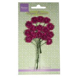 Marianne Design Bloem van het document, rozen, donkerroze